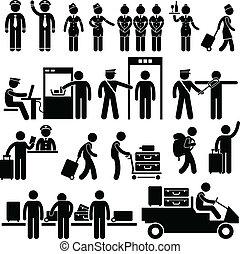 aeroporto, lavorante, sicurezza