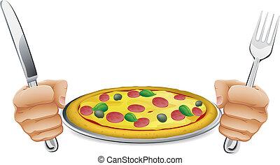 affamato, pizza