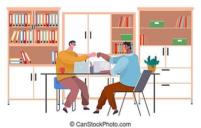 affare, agreement., persone, tavola, stretta di mano, raggiunto, consoci, tremante, riunione, mani, affari