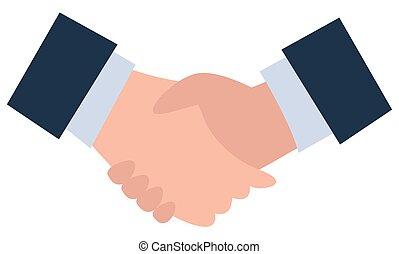 affare, vettore, affari, accordo, stretta di mano, consoci