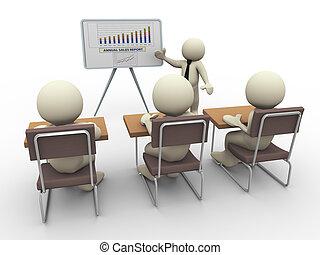 affari, 3d, presentazione