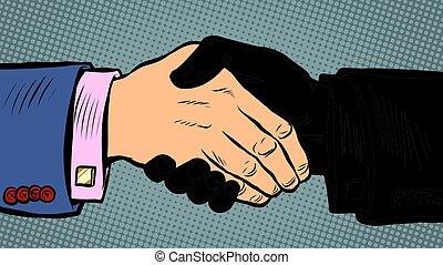 affari, accordo, affare, stretta di mano