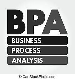 affari, acronimo, bpa, processo, analisi, -