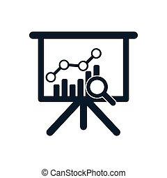affari, analisi, icone