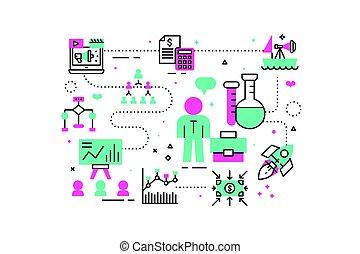 affari, analisi, illustrazione