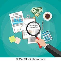 affari, analisi, pianificazione, relazione, finanziario