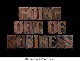affari, andare, legno, tipo, fuori