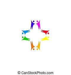 affari, arte, persone, bianco, insieme, segno, isolato, simbolo