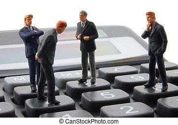 affari, calcolatore, isolato, giocattolo, uomo