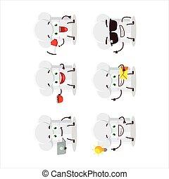 affari, cartone animato, tipi, vario, cappello chef, carattere, emoticons