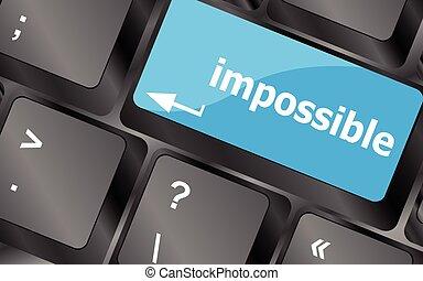 affari, chiavi, bottone, -, vettore, tastiera, impossibile, concept., icona