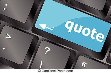 affari, chiavi, citazione, concept., -, vettore, chiave, tastiera, bottone, icona