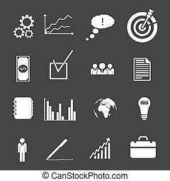 affari, collezione, icone