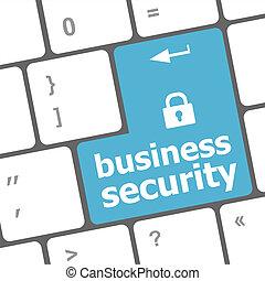 affari, computer portatile, chiave, tastiera, sicurezza