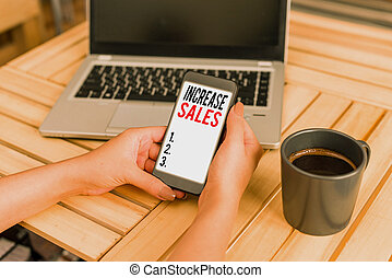 affari, cycle., scrittura, testo, alto, parola, sales., completato, clienti, vendite, concetto, aumento, numero