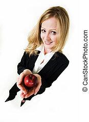 affari donna, mela