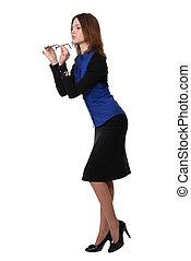 affari donna, tenere vetri