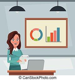 affari donna, ufficio