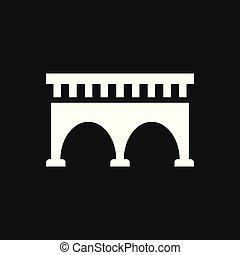 affari, icona, concept., style., appartamento, strada, ponte