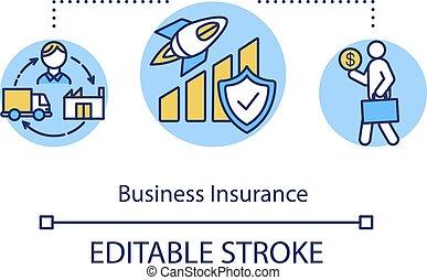 affari, icona, concetto, assicurazione