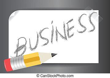affari, inviarla, vettore, parola
