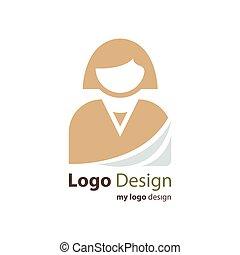 affari, logotipo, avatar, colorare, marrone