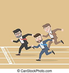 affari, maratona, concorrenza, uomo