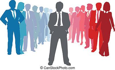 affari persone, condottiero, squadra, ditta