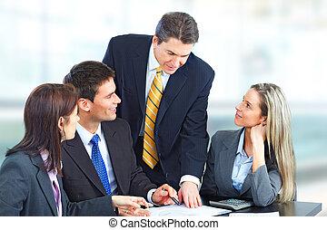 affari persone, squadra