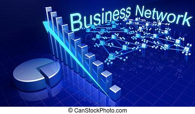 affari, rete finanziaria, crescita, concetto