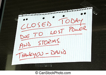 affari, segno closed