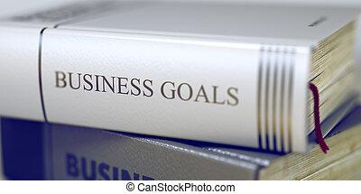 affari, titolo, -, libro, goals., 3d.