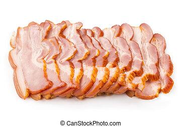 affettato, carne di maiale, pancetta affumicata, prosciutto