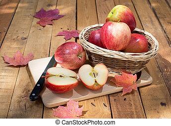 affettato, mela, rosso
