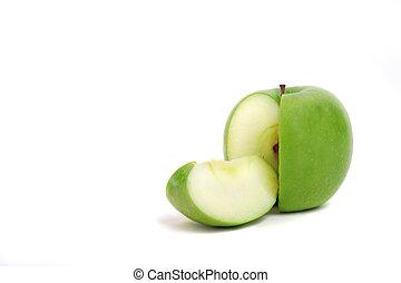 affettato, mela verde