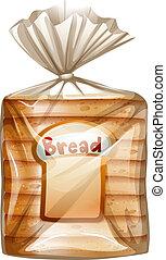 affettato, pacco, bread
