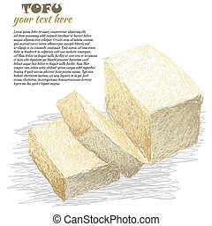 affettato, tofu