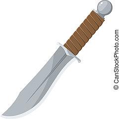 affilato, vettore, coltello, illustrazione
