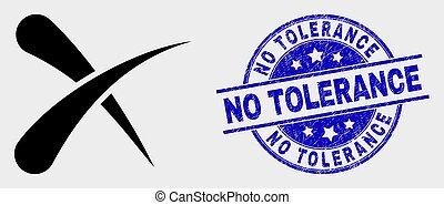 afflizione, no, francobollo, vettore, cancellare, tolleranza, icona