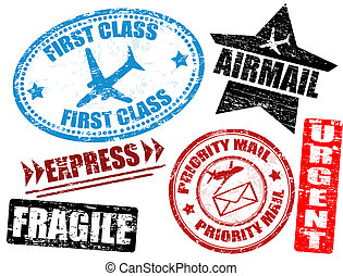 affrancatura, posta, francobolli