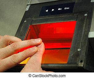 (afis), impronta digitale, identificazione, automatizzato, sistemi