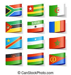 africa., flags., mondo