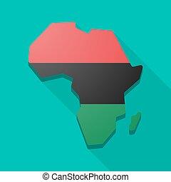 africa, icona, mappa, continente