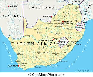 africa, politico, sud, mappa