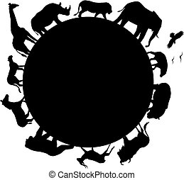 africa, silhouette, animale