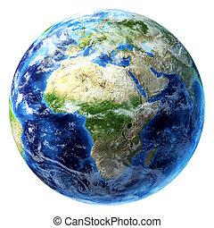 africa, un po', clouds., terra pianeta, vista.
