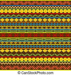 africano, modello, variopinto, motivi, etnico