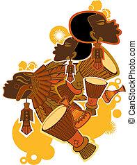 africano, persone