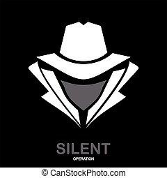 agent., agente, servizio, spia, icon., hacker., undercover., segreto, incognito.