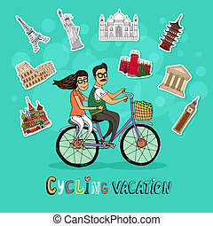 agganciare vacanza, ciclismo